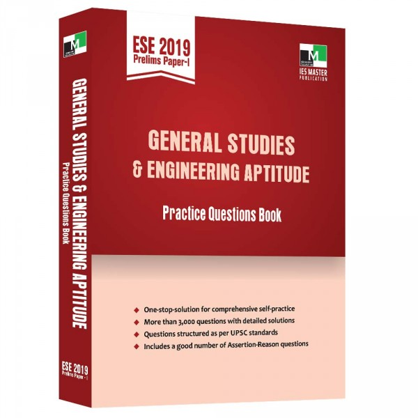 ESE 2019 Prelims Paper 1 - General Studies and Engineering Aptitude Practice Questions Book