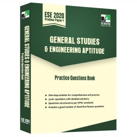 ESE 2020 Prelims Paper 1 - General Studies and Engineering Aptitude Practice Questions Book