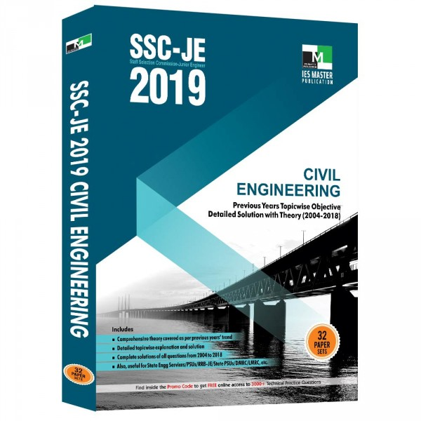 SSC-JE 2019 Civil Engineering Previous Years Topicwise Objective Detailed Solution with Theory